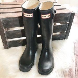 Hunter Black Original Gloss Tall Rain Boots